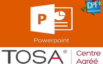 Powerpoint Niveau intermédiaire TOSA